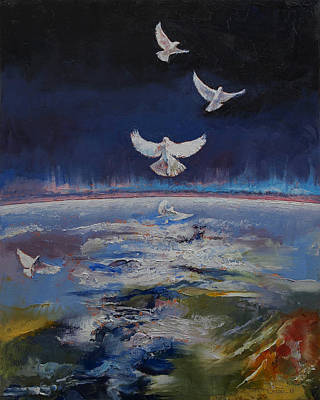 Doves Print by Michael Creese