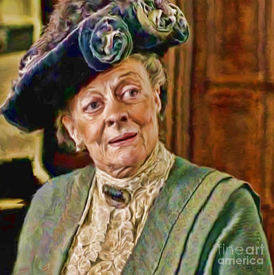 Dowager Countess Of Grantham From Downton Abbey Print by Ted Guhl