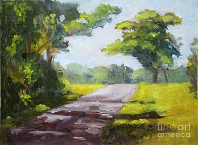 Schmid Painting - Down A Country Road by J Kenneth Grody