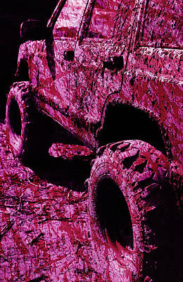 Down And Dirty Magenta Print by Luke Moore