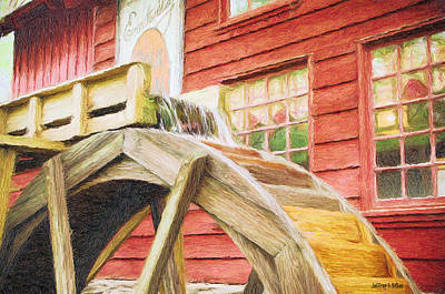Jeff Digital Art - Down By The Old Mill by Jeff Kolker