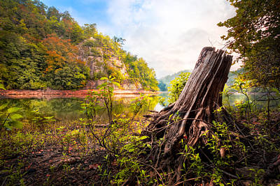 Down By The River Print by Debra and Dave Vanderlaan