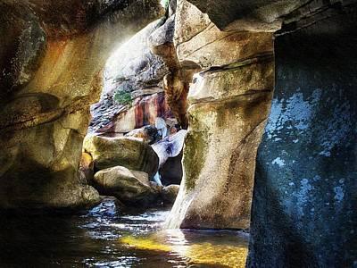 Down In The Gorge At Screw Auger Falls Grafton Notch Original by Joy Nichols