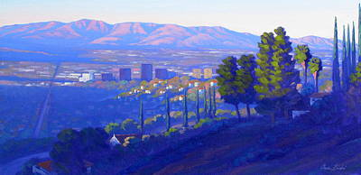 Down In The Valley Print by Elena Roche