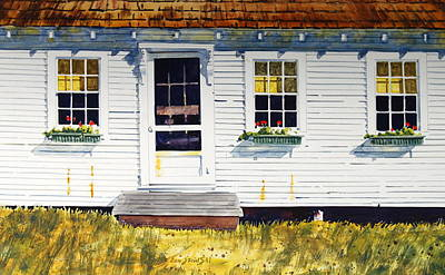 Maine Farms Painting - Down Maine Way by Len Stomski