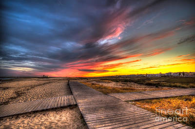 Down On The Boardwalk Print by English Landscapes