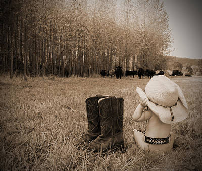 Down On The Farm Print by Kami McKeon
