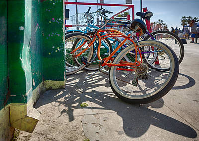 Beach Cruiser Photograph - Down Spout And Bikes by Scott Campbell
