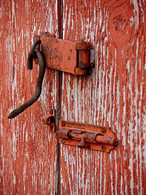 Latch Hook Photograph - Down The Door by Rae Tucker
