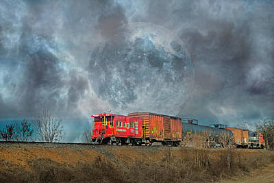 Caboose Photograph - Down The Line by Betsy Knapp