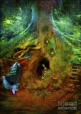 Arts In Wonderland Digital Art - Down The Rabbit Hole by Aimee Stewart
