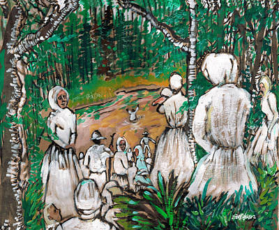 Baptism Mixed Media - Down To The River To Pray by Seth Weaver