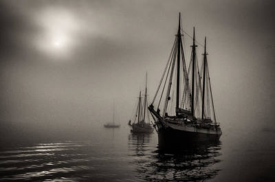 Windjammer Photograph - Downeast Fog 1 by Fred LeBlanc