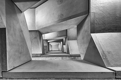 Tunnel Photograph - Downstairs by Guy Goetzinger