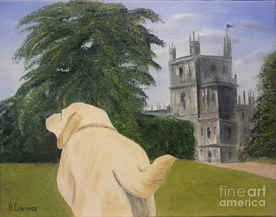 Golden Labrador Painting - Downton Abbey by Bev Conover