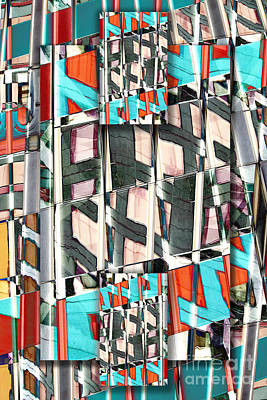 Abstract Composite Digital Art - Downtown 2 by Elena Nosyreva