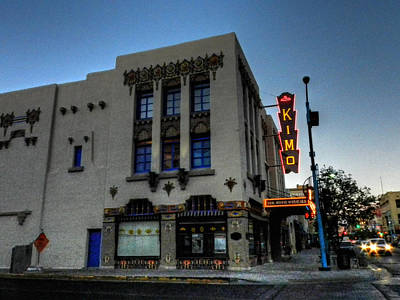 Sign Photograph - Downtown Abq - Kimo Theater by Lance Vaughn