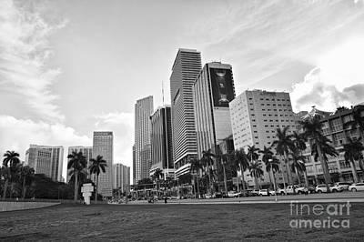 Poster Photograph - Downtown Buildings by Eyzen Medina