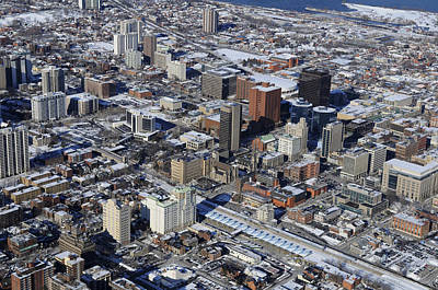 Photograph - Downtown Core, Hamilton by Bernard Dupuis