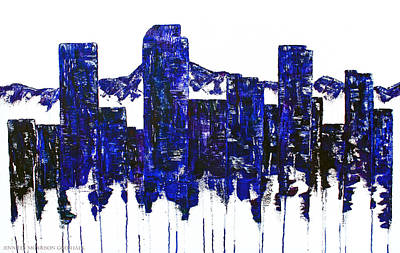Abstract Painting - Downtown Denver Abstract by Jennifer Godshalk
