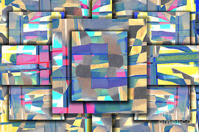 Abstract Composite Digital Art - Downtown by Elena Nosyreva