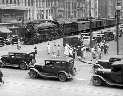 Empire State Photograph - Downtown Empire State Express by Underwood Archives