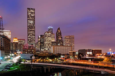 Downtown Houston Texas Skyline Beating Heart Of A Bustling City Print by Silvio Ligutti
