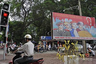 Downtown In Hanoi Print by Sami Sarkis