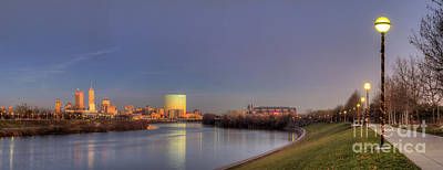 Downtown Indianapolis From White River Print by Twenty Two North Photography