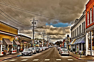 City Streets Photograph - Downtown La Conner Washington by David Patterson