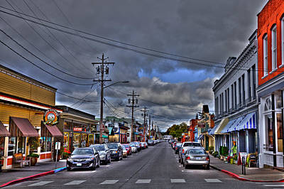 City Streets Photograph - Downtown La Conner Washington II by David Patterson