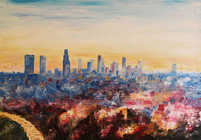 Downtown Los Angeles At Dusk Original by M Bleichner