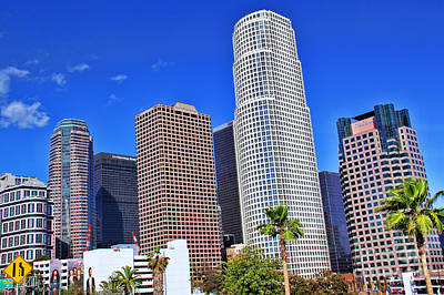 Downtown Los Angeles Print by Mariola Bitner