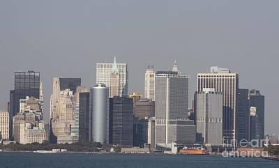 Telfer Photograph - Downtown Manhattan Shot From The Staten Island Ferry by John Telfer