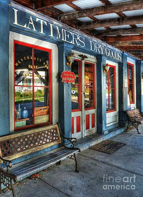 Window Bench Photograph - Downtown Perryville 2  by Mel Steinhauer