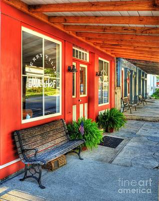 Window Bench Photograph - Downtown Perryville by Mel Steinhauer