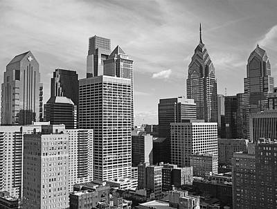 White Photograph - Downtown Philadelphia by Rona Black