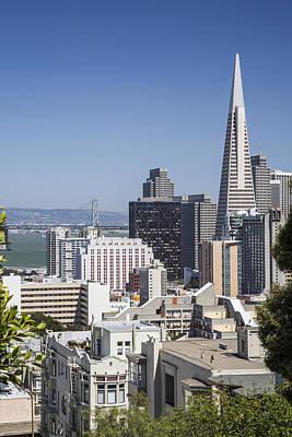 Bay Bridge Photograph - Downtown San Francisco by Adam Romanowicz