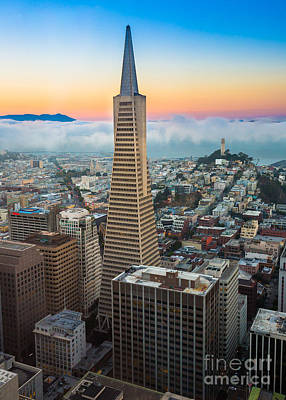 San Francisco Fog Print by Inge Johnsson