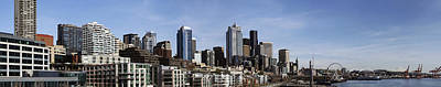 Seattle Photograph - Downtown Seattle And Mount Rainier by Michael DeMello