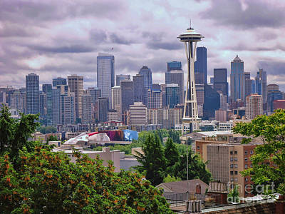 Downtown Seattle From Kerry Park Print by Allen Beatty