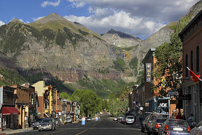Downtown Telluride Colorado Print by Mike McGlothlen