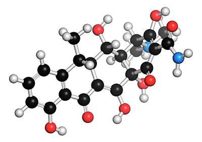 Anthrax Photograph - Doxycycline Antibiotic Molecule by Molekuul