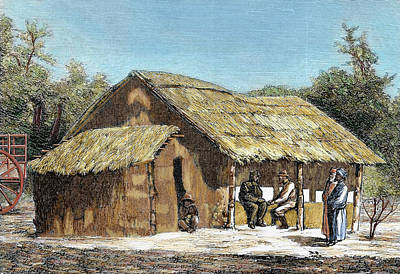 African Huts Photograph - Dr David Livingstone's (1813-1873 by Prisma Archivo
