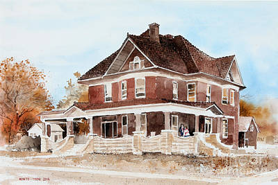 Dr. Hall Residence Print by Monte Toon