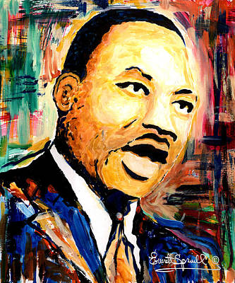 Wynton Marsalis Mixed Media - Dr. Martin Luther King Jr by Everett Spruill