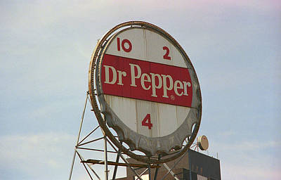 Dr. Pepper Bottle Top Print by Frank Romeo
