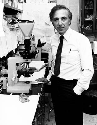 Dr. Robert Gallo Print by National Cancer Institute