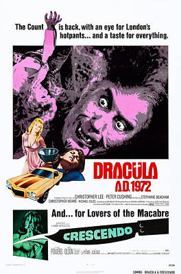 Horror Cars Photograph - Dracula A.d., 1972, On Double Bill by Everett