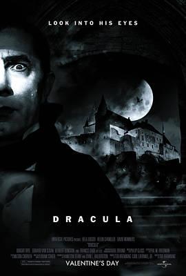 Dracula Digital Art - Dracula Custom Poster by Jeff Bell